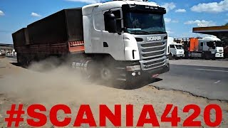 O RONCO MAIS TOP DO BRASIL !! SCANIA 420 !! [[[ WANDERSON VÍDEOS TRUCK ]]]