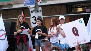 MÓJ KANAŁ GONIEC Wiec przeciwko ograniczeniom w Toronto