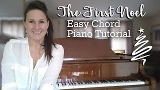 The First Noel - Easy Chord Piano Tutorial | Chording with Christmas Carols