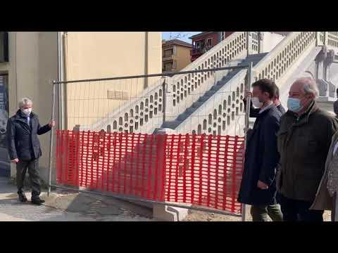 Riaperto il ponte pedonale liberty di via Magenta a Varese