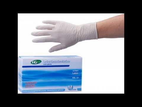 Latexhandschuhe,Untersuchungshandschuhe zum Schutz für die Haut unsteril puderfrei Größe medium