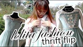 Thrift Flip: Casual Dress Into A Lolita Dress + Birthday Vlog + Giveaway!
