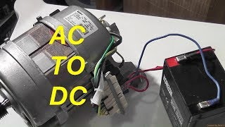 Easy Conversion Of AC Washer Motor To 12VDC