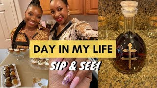 Day in my life: sip and see party, pampering myself, driving the boat | leah's legal life