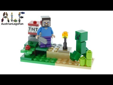 Vidéo LEGO Minecraft 30393 : Minecraft Steve and Creeper Set (Polybag)