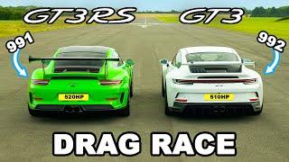 New Porsche 911 GT3 v GT3 RS: DRAG RACE *992 v 991*