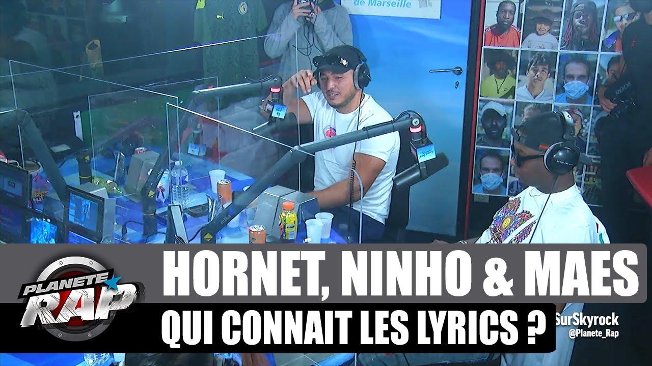 Hornet La Frappe - Qui connaît les lyrics ? avec Ninho & Maes ! #PlanèteRap
