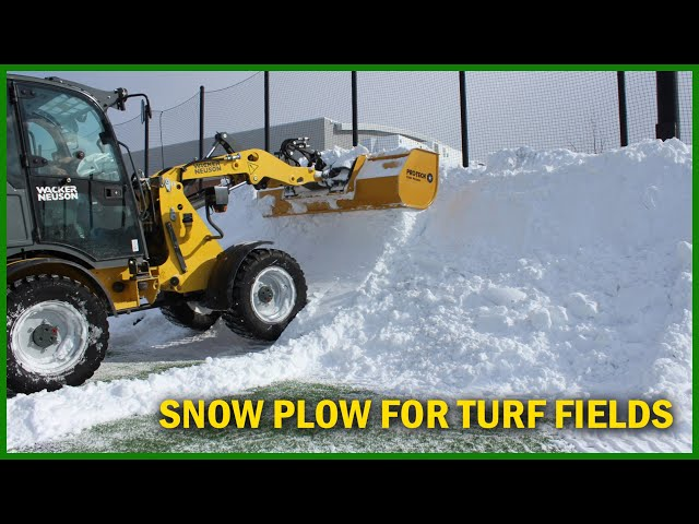 Snow Plow for Sports Turf Field - Pro-Tech Turf Pusher