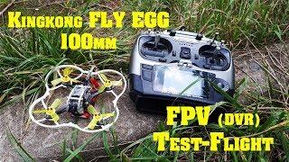 Полет в заброшке. FPV Kingkong FLY EGG 100 mm