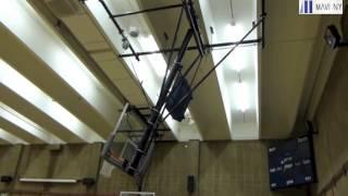 Eagle Academy - Roll Fold Basketball Backstop