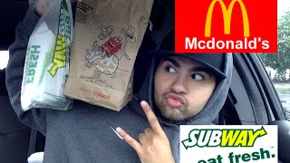 ME EATING MCDONALDS AND SUBWAY MUKBANG - Video Youtube