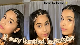 3 Easy Braided Hairstyles +how To Braid