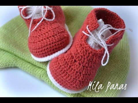 Вяжем пинетки-ботинки крючком