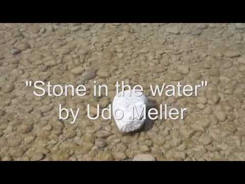Stone in the water