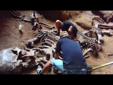 Gigantisch menselijk skelet gevonden in de Khao Khanap Nam-grot