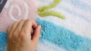 Набор ковриков с высоким ворсом. 3 шт. Турция ALESSIA. Дистрибьютор в Украине. от компании Euro texti VIP - видео 1