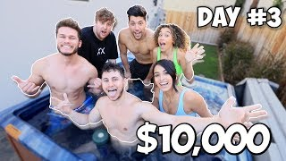 Last Youtuber To Leave The Jacuzzi Wins $10,000 - Challenge