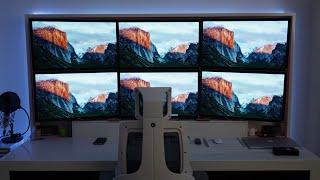 Six 4K Screens On A Mac Pro - 50,000,000 Pixels!