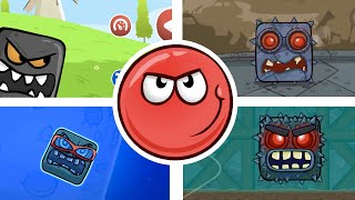 Red Ball 4 | All Bosses (No Damage)