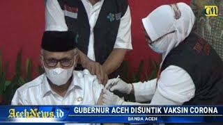 VIDEO - Disuntik Vaksin Covid-19 Gubernur Aceh Tak Merasa Efek