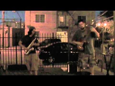 Jim Ivy and Kris Gruda Cafe Bohemia 727 Experimental Showcase sax guitar