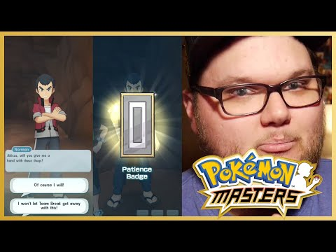 Pokemon Masters - Helping Norman & Slaking with Team Break!
