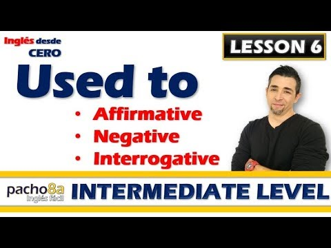 Lesson 6 – Old Habits With USED TO – Affirmative, Negative, Interrogative, And Answers