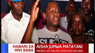 Aisha Jumwa kufikishwa mahakamani kutokana na vurugu iliyoshuhudiwa katika wodi ya Ganda hapo jana.