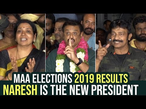 Actor Naresh Elected As New President Of MAA 2019