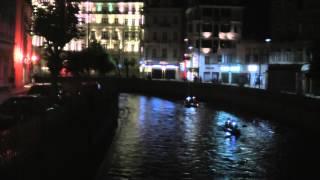 preview picture of video 'Noční plavba po Teplé, Karlovy Vary 2013'