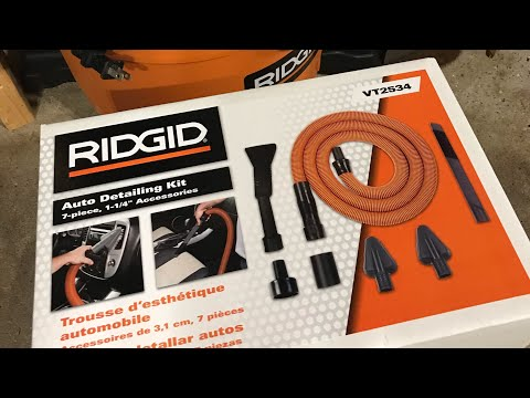 Cheap Shop Vac Upgrade! Ridgid Auto Detailing Kit Review