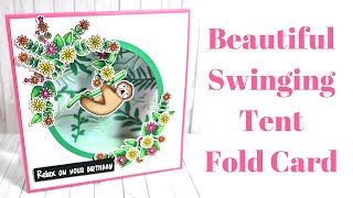 Beautiful Swinging Tent Fold Card IT REALLY DOES MOVE! Original Design