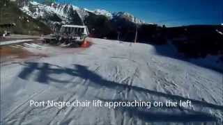 preview picture of video 'Skiing in Arinsal on 10th January 2015'