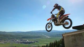 Ski jump on a bike!