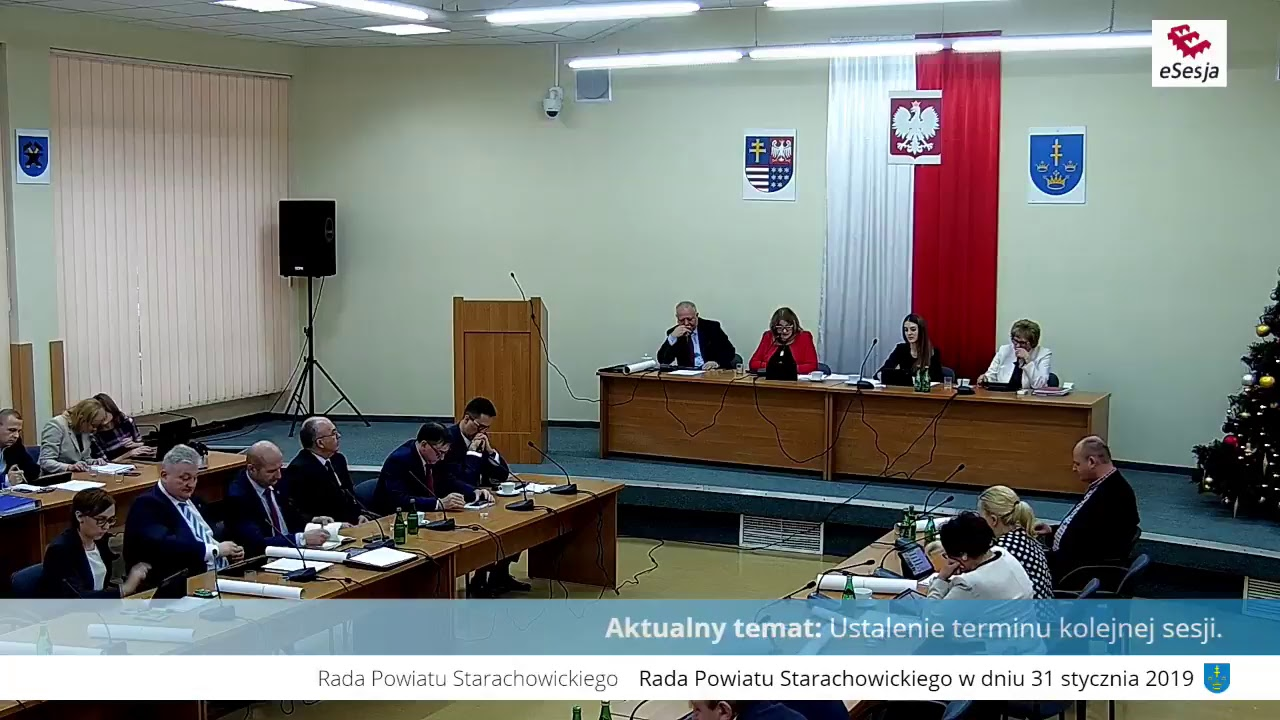 V Sesja Rady Powiatu w Starachowicach 31.01.2019r.