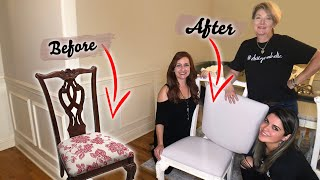 How To Reupholster Dining Chairs | Beginner DIY
