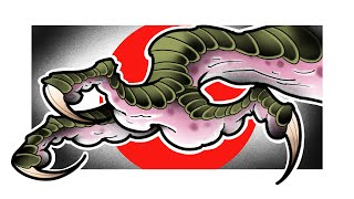 How To Draw A DRAGON CLAW | 2 | Japanese Dragon Tutorial
