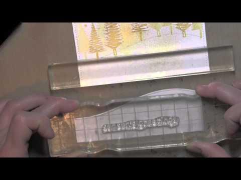 Κατασκευή χριστουγεννιάτικης κάρτας με σφραγίδες
