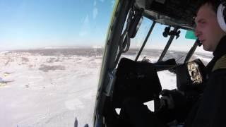 ми-8 взлет, посадка глазами пилотов!!!
