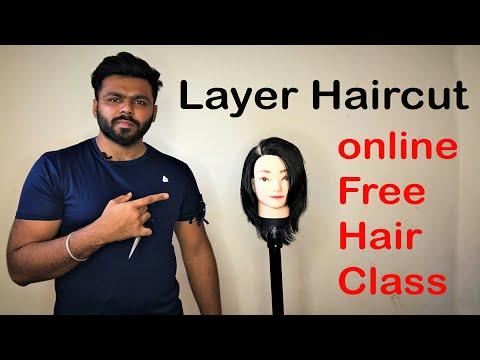 Layer haircut - hair cutting course - online hair classes.