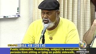 preview picture of video '7/24/14: Lancelot Haili Lincoln against criminalization of homeless'
