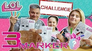 3 MARKER CHALLENGE 😜 LOL SURPRISE 💕DZIĘKUJEMY ZA 90000 SUBSKRYPCJI!