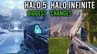 Halo Infinite vs Halo 5: BIGGEST CHANGES [4K VIDEO]