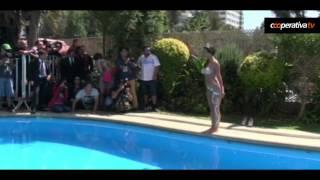 Así fue el piscinazo de Jhendelyn Nuñez