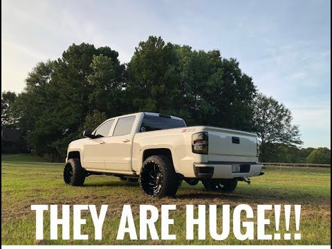24x14s & 35s On My LEVELED 2018 Silverado!!!