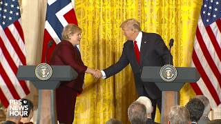 WATCH: President Trump and Prime Minister Solberg of Norway hold joint news conference