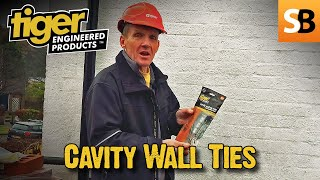 How to tie in a wall securely with Tiger cavity wall ties