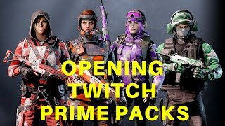 Opening 16 Twitch Prime Loot Packs | Rainbow Six Siege Twitch Prime