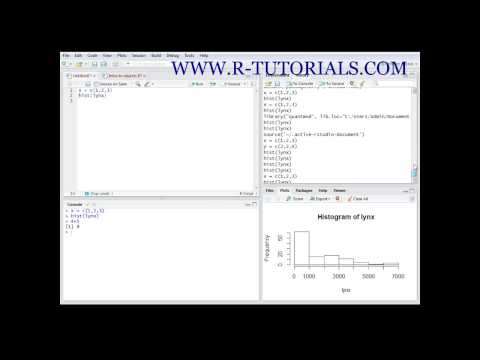 R tutorials – introduction to R Studio