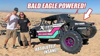 Riding In an INSANE Supercharged LS Powered Sand Buggy! (JUMPS, WHEELIES, FREEDOM & more)